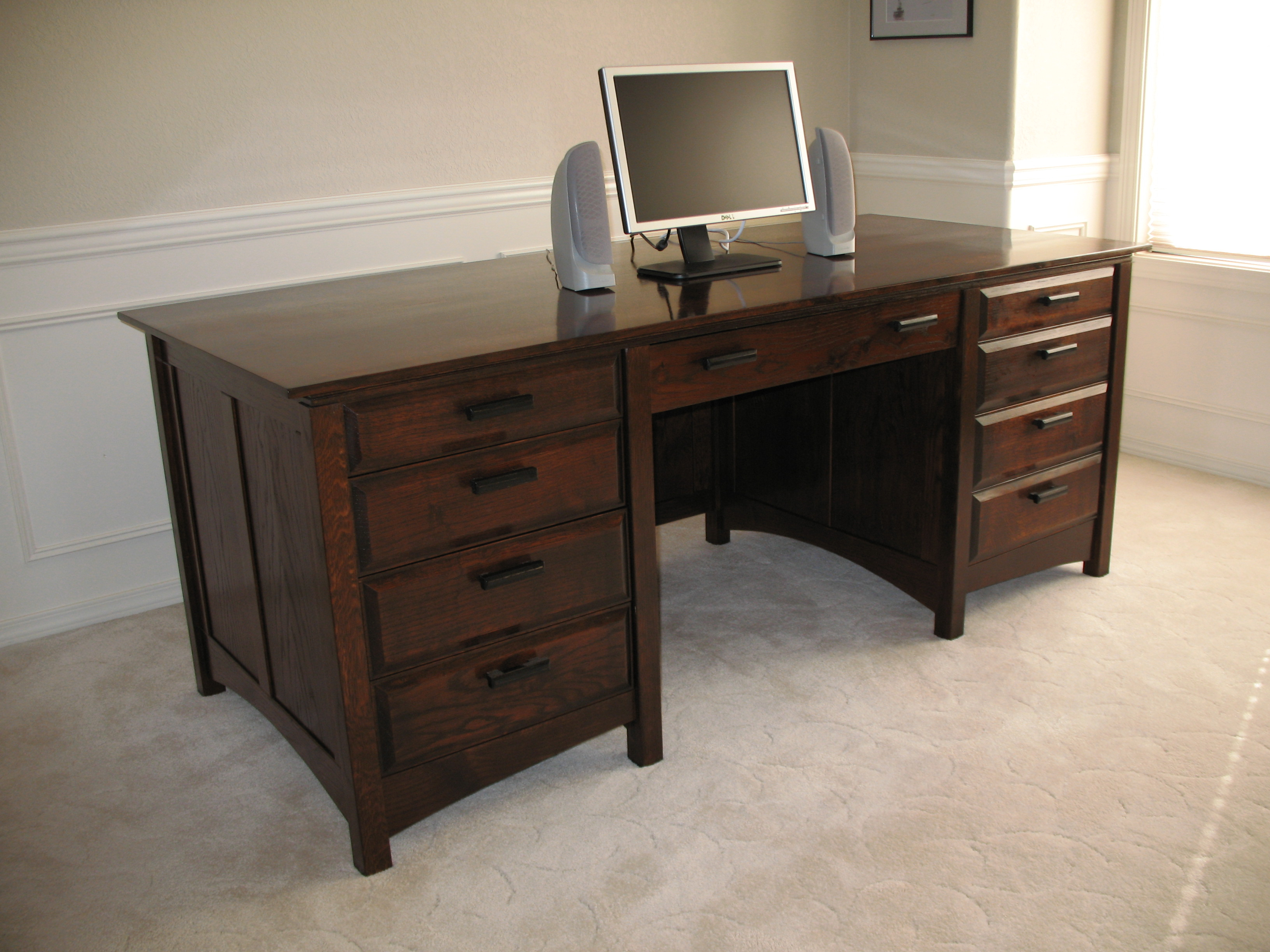 nick van  northwest corner woodworkers association - oak desk